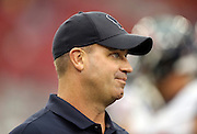 Houston Texans head coach Bill O'Brien looks on during pre game warmups before the 2014 NFL preseason football game against the Arizona Cardinals on Saturday, Aug. 9, 2014 in Glendale, Ariz. The Cardinals won the game in a 32-0 shutout. ©Paul Anthony Spinelli