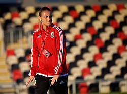 NEWPORT, WALES - Friday, August 31, 2018: Wales' Kayleigh Green before the FIFA Women's World Cup 2019 Qualifying Round Group 1 match between Wales and England at Rodney Parade. (Pic by David Rawcliffe/Propaganda)