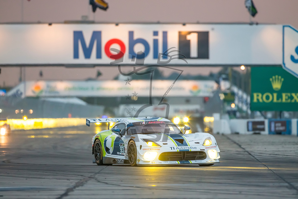 Sebring, FL - Mar 19, 2015:  The Riley Motorsports Dodge Viper SRT races through the turns at 12 Hours of Sebring at Sebring Raceway in Sebring, FL.