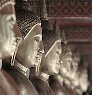 Row of Buddhas, Wat Pho, Old City, Bangkok, Thailand, limited edition print