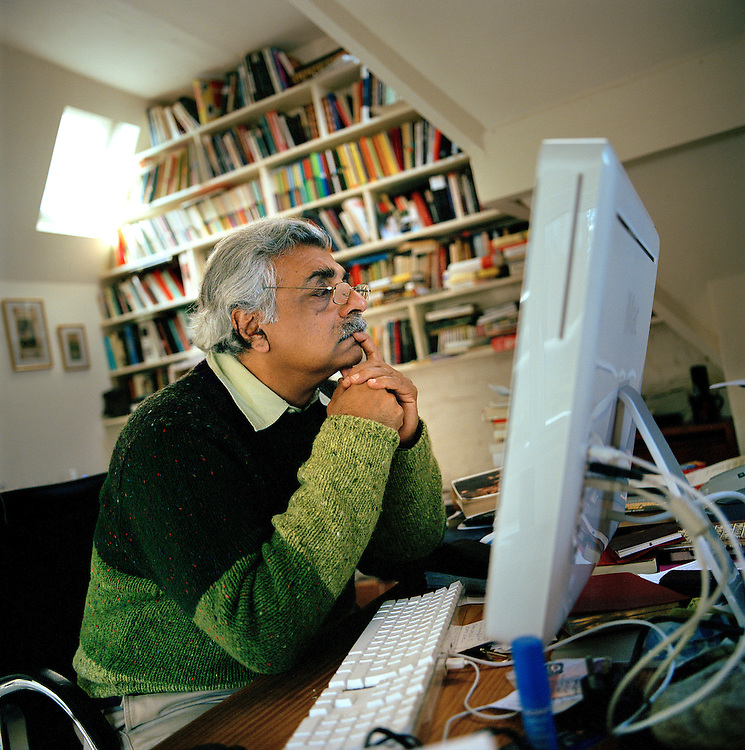Writer and Political Activist Tariq Ali in his home in Hampstead, London.
