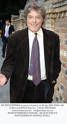 SIR TOM STOPPARD at a party in London on 6th July 2004.PWW 168