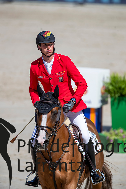 DEUSSER Daniel (GER), SCUDERIA 1918 TOBAGO Z<br /> Rotterdam - Europameisterschaft Dressur, Springen und Para-Dressur 2019<br /> Longines FEI Jumping European Championship - Second Qualifying Competition<br /> Team Final Round 1<br /> 2. Qualifikation - Team Finale 1. Runde<br /> 22. August 2019<br /> © www.sportfotos-lafrentz.de/Dirk Caremans