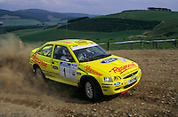 Mobil 1/RAC British Rally Championship 1997. RSAC Scottish Rally. Gwyndaf Evans / Howard Davies. Ford Motorsport. Ford Escort Super Rally. World Copyright: Peter Taylor/PSP. Copy of publication required for printed pictures. Every used picture is fee-liable..