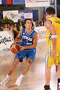DESCRIZIONE : Bormio Torneo Internazionale Gianatti Italia Australia <br /> GIOCATORE : Massimo Bulleri <br /> SQUADRA : Nazionale Italiana Uomini <br /> EVENTO : Bormio Torneo Internazionale Gianatti <br /> GARA : Italia Australia <br /> DATA : 03/08/2007 <br /> CATEGORIA : Penetrazione <br /> SPORT : Pallacanestro <br /> AUTORE : Agenzia Ciamillo-Castoria/S.Silvestri