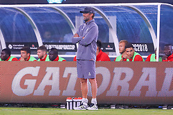 July 25, 2018 - East Rutherford, NJ, U.S. - EAST RUTHERFORD, NJ - JULY 25:  Liverpool head coach Jurgen Klopp during the first half of the International Champions Cup Soccer game between Liverpool and Manchester City on July 25, 2018 at Met Life Stadium in East Rutherford, NJ.  (Photo by Rich Graessle/Icon Sportswire) (Credit Image: © Rich Graessle/Icon SMI via ZUMA Press)