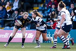 Vicky Laflin of Worcester Warriors Women takes on Daisie Mayes of Bristol Bears Women - Mandatory by-line: Robbie Stephenson/JMP - 01/12/2019 - RUGBY - Sixways Stadium - Worcester, England - Worcester Warriors Women v Bristol Bears Women - Tyrrells Premier 15s