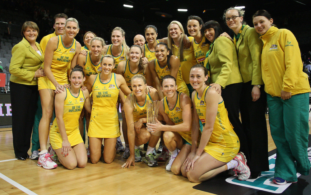 Australian netball team after winning the in the New World Quad series, Claudelands Arena, Hamilton, New Zealand, Thursday, November 01, 2012. Credit:SNPA / Dianne Manson.