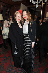 Left to right, CHARLOTTE DELLAL and ALICE TEMPERLEY at a party hosted by Justine Picardie, Editor-in-Chief of Harper's Bazaar UK and Glenda Bailey, Editor-in-Chief of Harper's Bazaar US to celebrate the end of London Fashion Week and the biggest-ever March issues of Harper's Bazaar, held at Mark's Club, Charles Street, London on 19th February 2013.