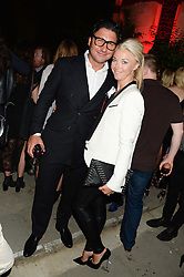 TAMARA BECKWITH and GIORGIO VERONI at the Carrera Ignition Night at The House of St.Barnabas, Soho, London on 20th June 2013.