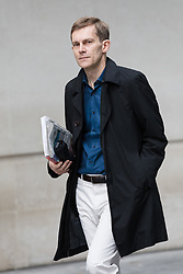 © Licensed to London News Pictures. 23/07/2017. LONDON, UK.  SEUMAS MILNE leaves BBC Broadcasting House after Jeremy Corbyn appeared on the Andrew Marr Show.  Photo credit: Vickie Flores/LNP
