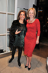 Left to right, ? and MARIELLA FROSTRUP at a party to celebrate the switching on of the Christmas Lights at the Stella McCartney store, Bruton Street, London on 29th November 2011.