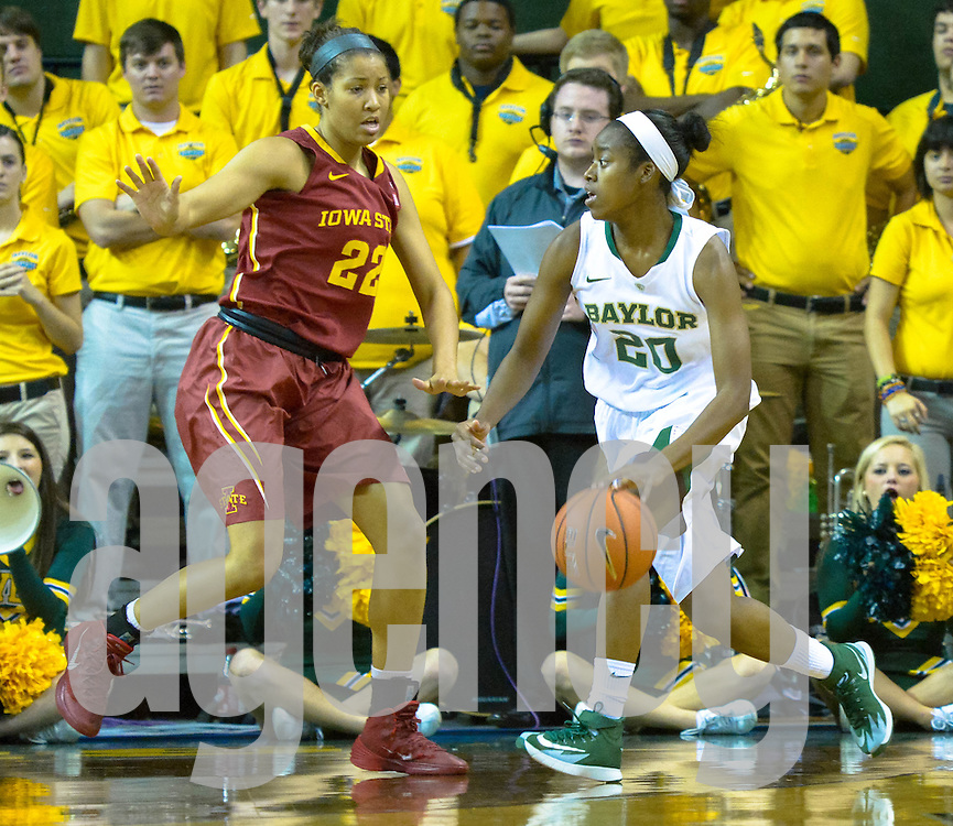 Feb 20, 2014, G #20 Imani Wright Baylor Bear  vs. Iowa State Cyclone at the Ferrell Center, Waco, Texas