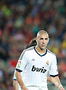 Karim Benzema of Real Madrid. Barcelona v Real Madrid, Supercopa first leg, Camp Nou, Barcelona, 23rd August 2012...Credit - Eoin Mundow/Cleva Media.