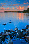 Lake of the Woods at sunrise<br />