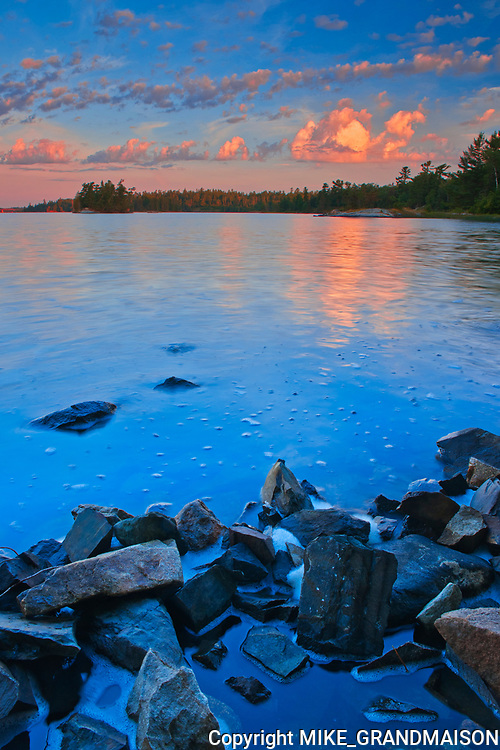 Lake of the Woods at sunrise<br />Sioux Narrows Provincial Park<br />Ontario<br />Canada