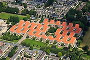 Nederland, Overijssel, Hengelo, 30-06-2011; De Kasbah van architect Piet Blom in de wijk Groot Driene. De woningen, gebouwd in 1973, staan op kolommen waardoor op begane grond ruimte is voor gemeenschappelijke voorzieningen en parkeren..The Kasbah of architect Piet Blom in the Groot Driene district, built in 1973..luchtfoto (toeslag), aerial photo (additional fee required).copyright foto/photo Siebe Swart