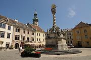 Town square Sopron, Hungary, Europe