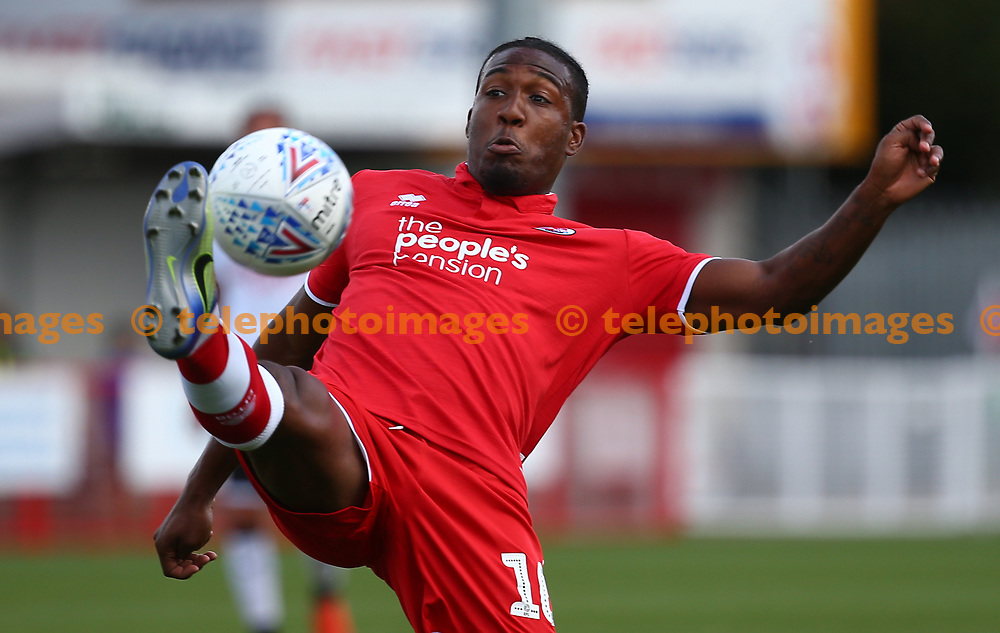 Crawley's Dominic Poleon during the pre season friendly between Crawley Town and KSV Roeselare at The Broadfield Stadium, Crawley , UK. 28 July 2018.