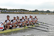 Eton, GREAT BRITAIN, GER, M8+, at the start,   2006 World Rowing Championships, 21/08/2006.  Photo  Patrick White, © Intersport Images,  Tel +44 [0] 7973 819 551,  email images@intersport-images.com , Rowing Courses, Dorney Lake, Eton. ENGLAND