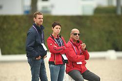 Röser, Klaus (GER); Werndl, Benjamin (GER); Theodorescu, Monica (GER); Hilberath, Johnny (GER)<br /> European Championship Aachen 2015 - Dressage<br /> © Hippo Foto - Stefan Lafrentz