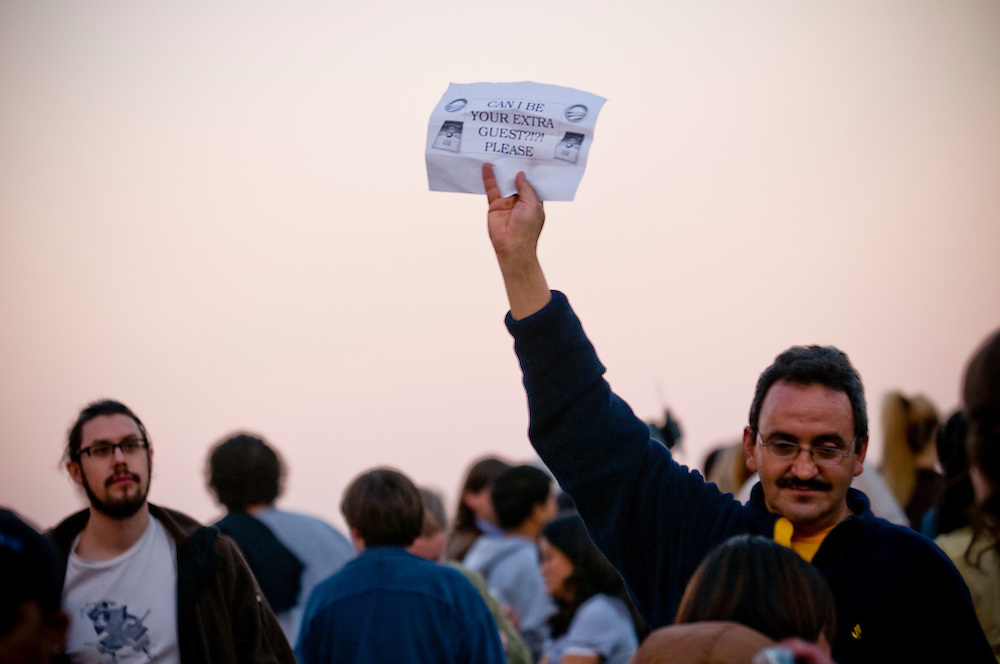 Obama Election Night begins in Grant Park, Chicago..Chris Maluszynski /Moment / Agence VU