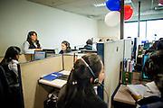 Operadoras del Call Center. Copec, 80 años. Santiago de Chile. 02-07-15, 12:21:14 (©Alvaro de la Fuente/Triple.cl)