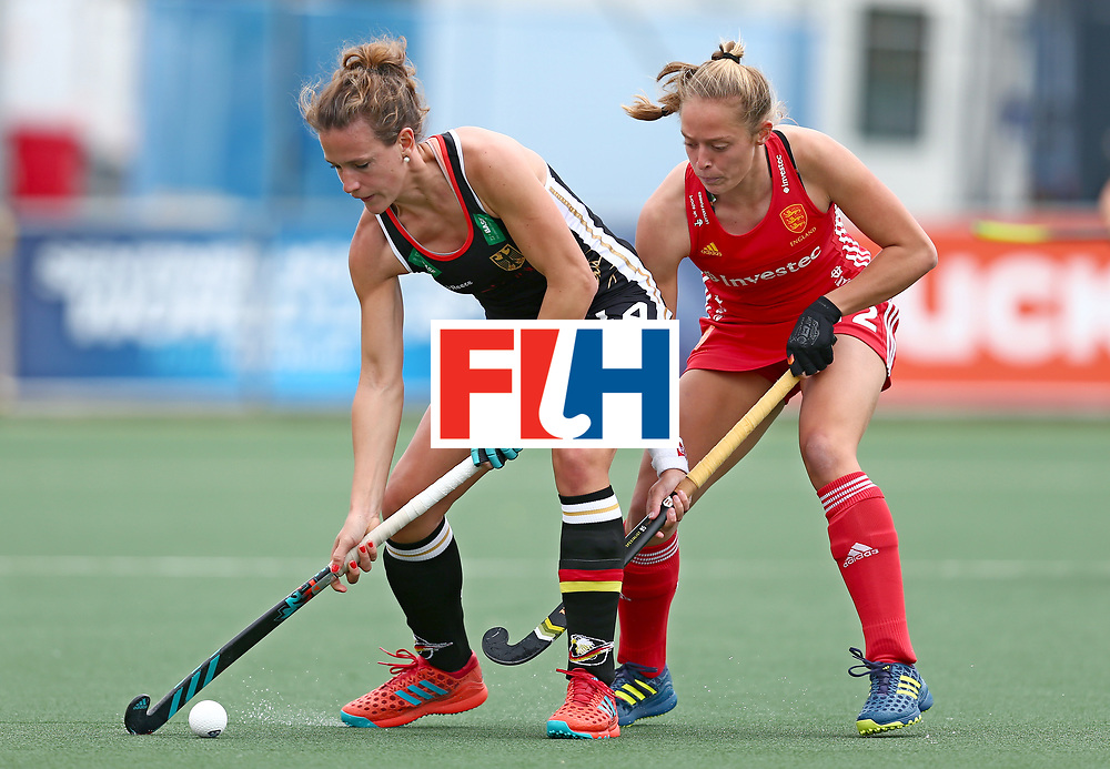 New Zealand, Auckland - 18/11/17  <br /> Sentinel Homes Women&rsquo;s Hockey World League Final<br /> Harbour Hockey Stadium<br /> Copyrigth: Worldsportpics, Rodrigo Jaramillo<br /> Match ID: 10293 - ENG vs GER<br /> Photo: (14) M&Uuml;LLER-WIELAND Janne (C) against (12) SANDERS Erica