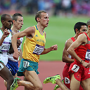 Ryan Gregson, Australia, in action in the Men's 1500m Semi Final at the Olympic Stadium, Olympic Park, Stratford at the London 2012 Olympic games. London, UK. 5th August 2012. Photo Tim Clayton