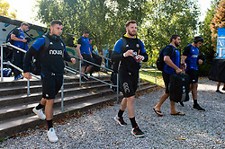 Max Wright and the rest of the Bath Rugby team arrive at Allianz Park - Mandatory byline: Patrick Khachfe/JMP - 07966 386802 - 29/09/2018 - RUGBY UNION - Allianz Park - London, England - Saracens v Bath Rugby - Gallagher Premiership Rugby