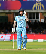 Eoin Morgan of England batting during the ICC Cricket World Cup 2019 Final match between New Zealand and England at Lord's Cricket Ground, St John's Wood, United Kingdom on 14 July 2019.