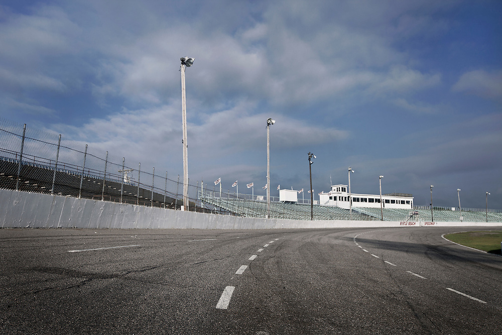A low angle photograph taken on the Myrtle Beach Speedway.