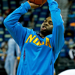 October 9, 2010; New Orleans, LA, USA; New Orleans Hornets guard Marcus Thornton (5) shoots during warm ups prior to tipoff of a game against the Memphis Grizzlies at the New Orleans Arena. Mandatory Credit: Derick E. Hingle