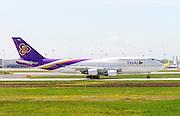 HS-TGO Thai Airways Boeing 747 Photographed at Malpensa airport, Milan, Italy