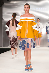 © Licensed to London News Pictures. 02/06/2014. London, England. De Montfort University Leicester, collection by Sophie Bateson. Graduate Fashion Week 2014, Runway Show at the Old Truman Brewery in London, United Kingdom. Photo credit: Bettina Strenske/LNP