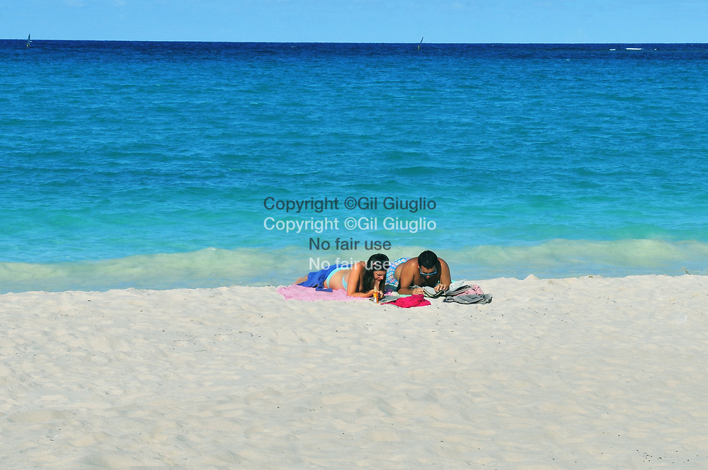 Nouvelle Calédonie, Îles Loyauté, ile de Lifou (aussi île Drehu ), plage de Xepenebe // New Caledonia, French Pacific territory, Loyalty islands, Lifou island ( also called Drehu island), Xepenebe beach