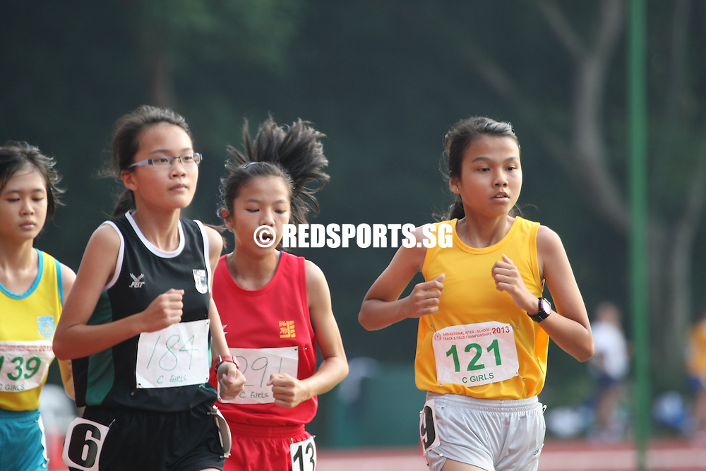 Choa Chu Kang Sports Complex, Monday, April 15, 2013 &mdash; In the 3,000 metres C Division final of the 54th National Inter-School Track and Field Championships 2013, a strong final 500m dash was what set Alicia Tung Rui Ling of Crescent Girls&rsquo; School apart from the rest. Covering the 3,000m in 12:08.17, Alicia bagged a gold to go with the silver medal from the 1,500m event where she clocked 5:28.58.<br />
