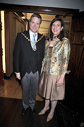 The Lord Mayor of Westminster DUNCAN SANDYS and his wife MARY BROWN SANDYS at the launch of the Imperial War Museum's 70th anniversary commemorating the outbreak of World War 11 held at the Cabinet War Rooms, Whitehall, London on 2nd September 2009.