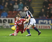 Dundee&rsquo;s Kostadin Gadzhalov and Aberdeen&rsquo;s Adam Rooney - Aberdeen v Dundee in the Ladbrokes Scottish Premiership at Pittodrie, Aberdeen - Photo: David Young, <br /> <br />  - &copy; David Young - www.davidyoungphoto.co.uk - email: davidyoungphoto@gmail.com