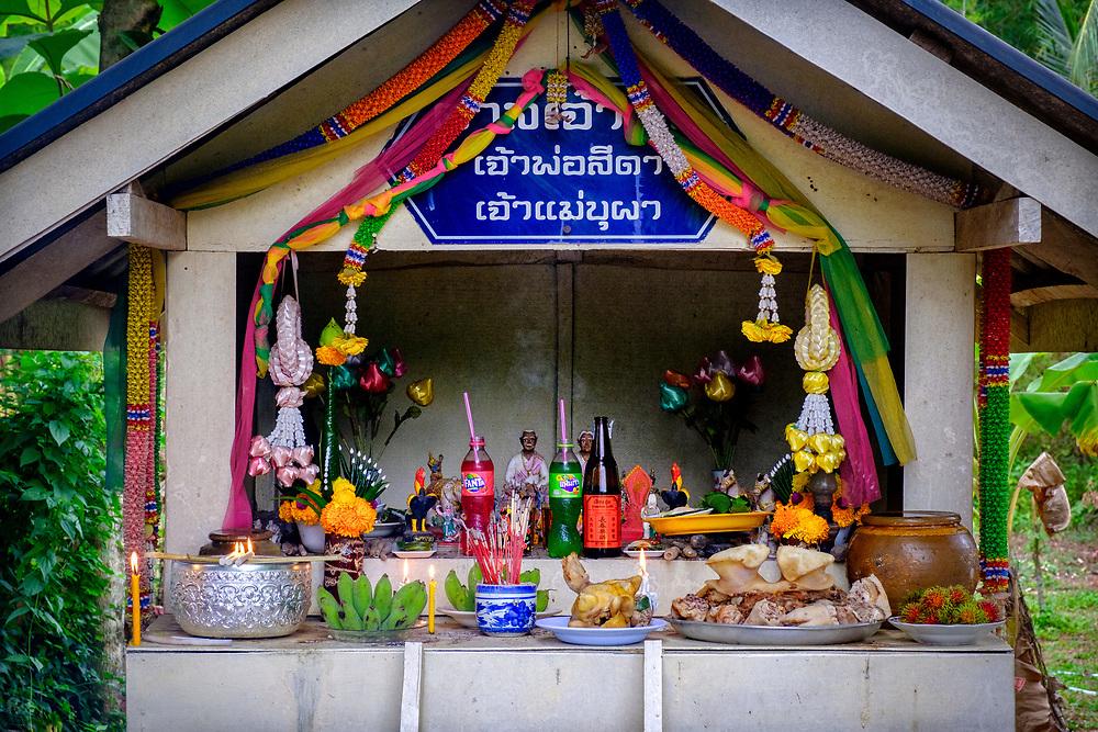 Annual Village Spirit House Blessing in Nakhon Nayok, Thailand