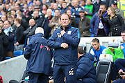 Preston Manager Simon Grayson before the Sky Bet Championship match between Brighton and Hove Albion and Preston North End at the American Express Community Stadium, Brighton and Hove, England on 24 October 2015. Photo by Phil Duncan.