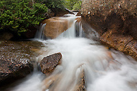 A stream flowing through the rocks in Cheyenne Canyon. Colorado Springs, Colorado