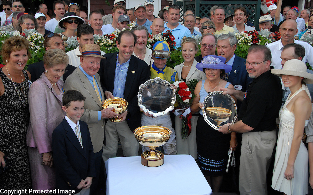 Street Sense owners and trainers in the winners circle after winning the Travers Stakes.