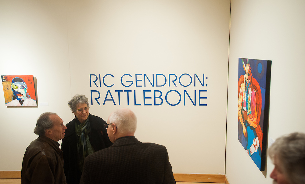 The Jundt Art Museum celebrated the work of Ric Gendron in February and March. (Photo by Rajah Bose)