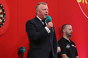 Darts Master of Ceremonies John McDonald during the Ladrokes UK Open 2019 at Butlins Minehead, Minehead, United Kingdom on 1 March 2019.