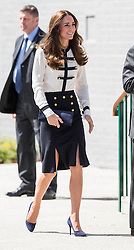 The Duchess of Cambridge visits Bletchley Park, where her Grand mother worked during the war as a code breaker. Image ©Licensed to i-Images Picture Agency. 18/06/2014. Bletchley, United Kingdom. Duchess of Cambridge visits Bletchley Park. Bletchley Park. Picture by i-Images