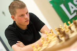 Jure Zorko in action during the Slovenian National Chess Championships in Ljubljana on August 9, 2010.  (Photo by Vid Ponikvar / Sportida)