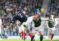 Falkirk's Kieran Duffie and Hibernian's Leigh Griffiths..Hibernian 4 v 3 Falkirk, William Hill Scottish Cup Semi Final, Hampden Park..©Michael Schofield..