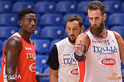 Paul Biligha, Marco Belinelli, Luigi Datome<br /> Nazionale Italiana Maschile Senior<br /> Eurobasket 2017 - Group Phase<br /> Allenamento<br /> FIP 2017<br /> Tel Aviv, 31/08/2017<br /> Foto Ciamillo - Castoria/ M.Longo