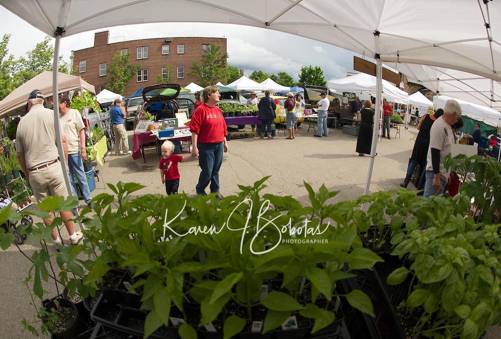 Laconia Main Street Outdoor Market Place opens for the season Thursday, June 7, 2012.   (Karen Bobotas/for the Laconia Daily Sun)